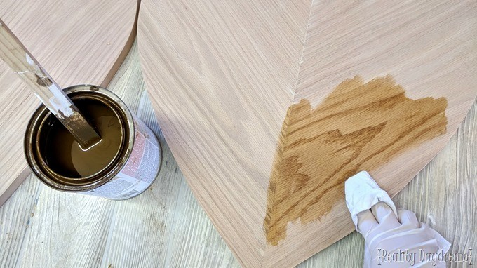 Building and staining these nesting tables #midcentury {Reality Daydream}