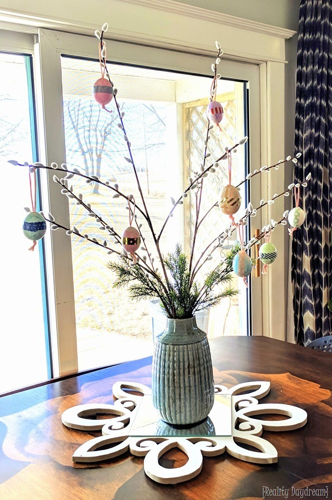 How to blow out Easter Eggs with kids and make an Easter Egg tree! {Reality Daydream}