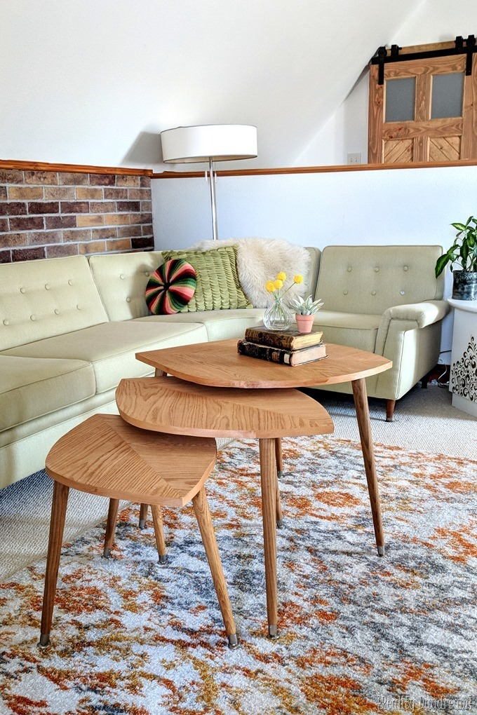 How to build mid century leaf-shaped nesting tables to use as a coffee table [Reality Daydream}