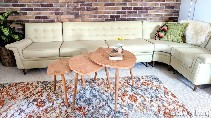 How to build these mid century modern nesting tables that look like leaves! {Reality Daydream}