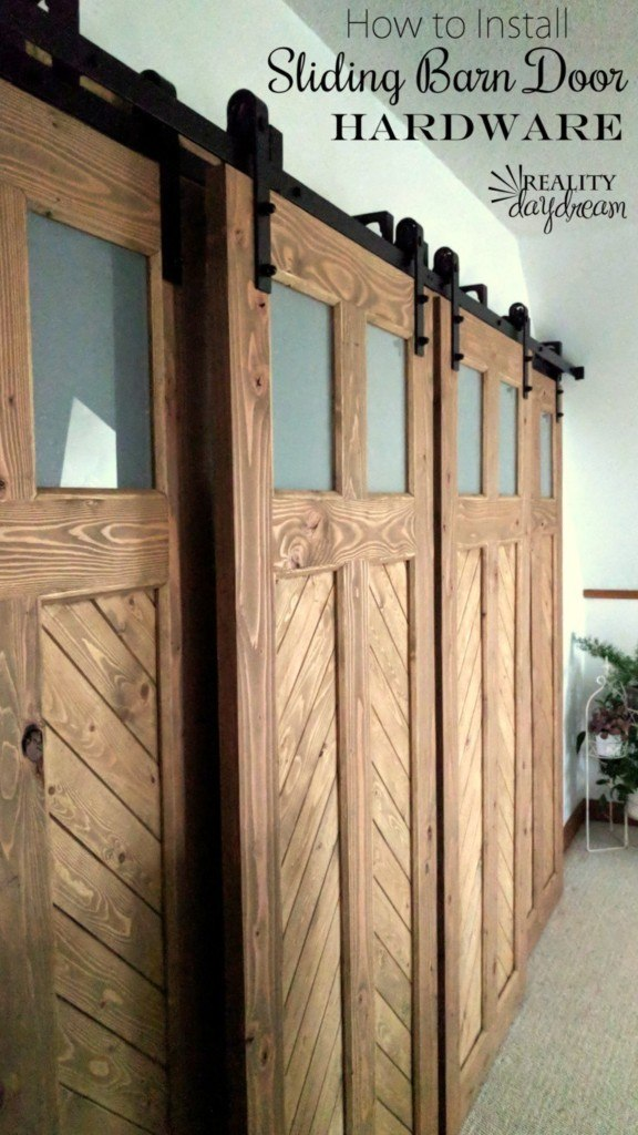 Installing Sliding Barn Door Hardware With Bypass Brackets