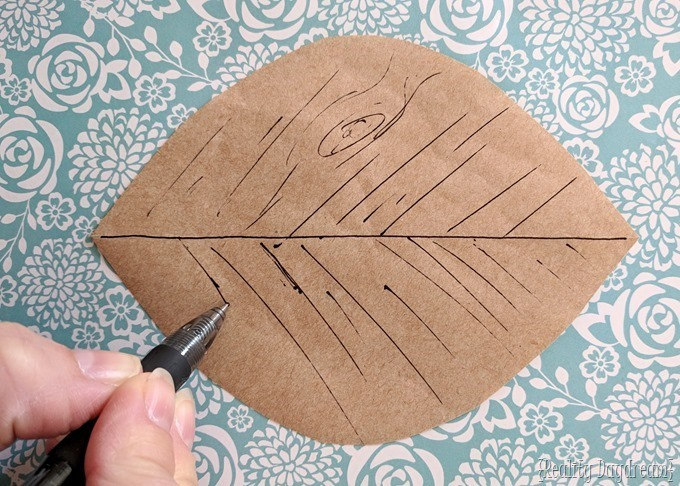 Leaf template for nesting tables {Reality Daydream}