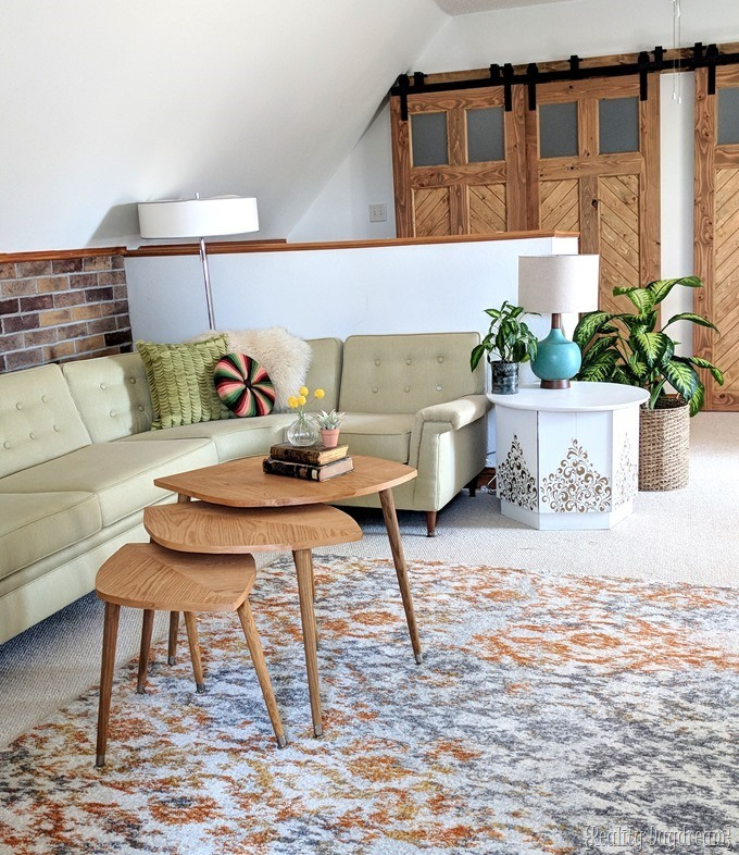 Tutorial for building a mid-century modern nesting tables that look like leaves! {Reality Daydream}