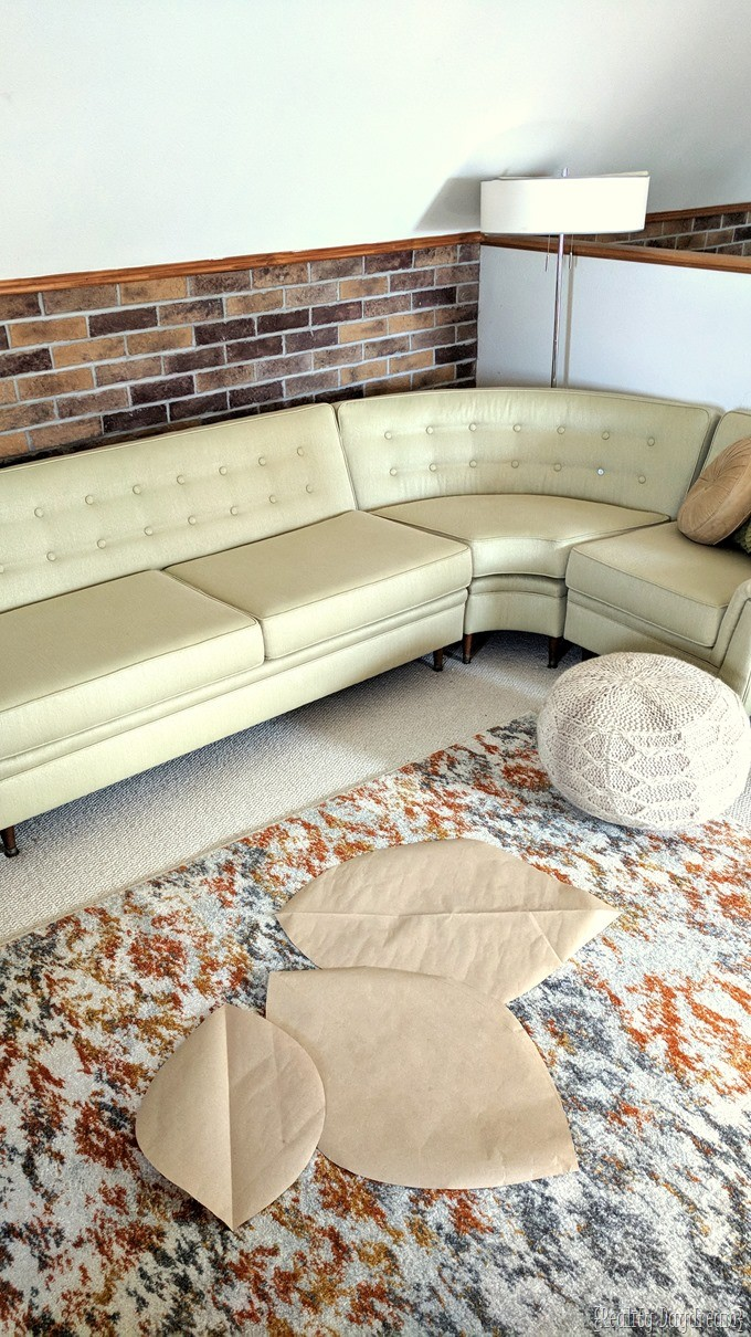 Use nesting tables as a coffee table for a really long couch {Reality Daydream}