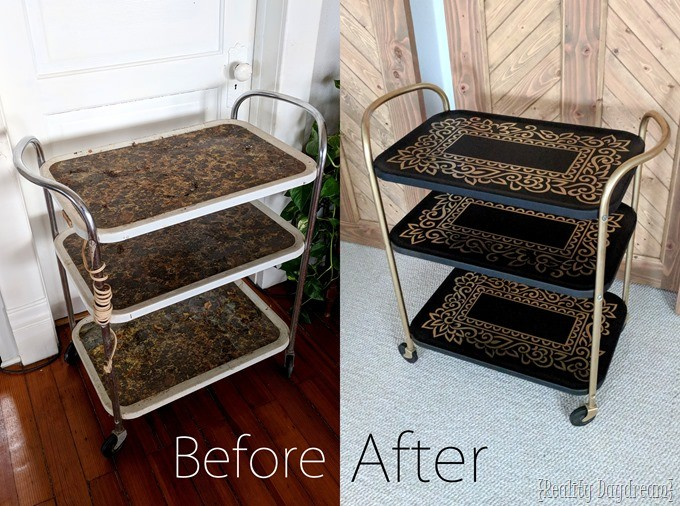 vintage bar cart makeover {Reality Daydream}