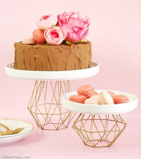 Geometric Metal DIY Cake Stands