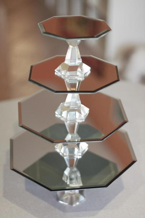 Mirrored DIY Cake Stands