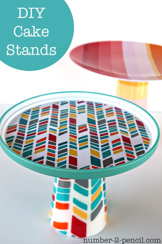 Simple and Creative DIY Cake Stands and Dessert Stands