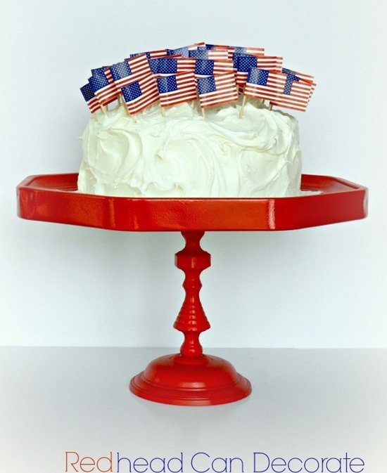 Simple and fun DIY Cake Stands, Dessert Stands, and Cupcake Stands