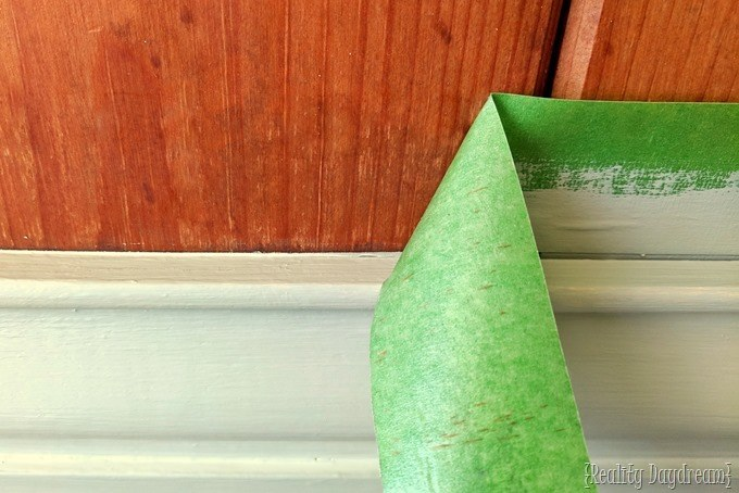 Using painters tape for painting trim and molding {Reality Daydream}