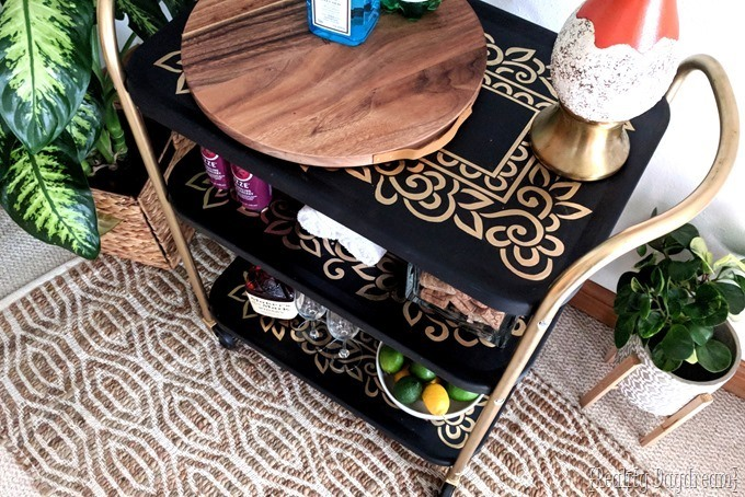 Vintage rolling bar cart makeover {Reality Daydream}