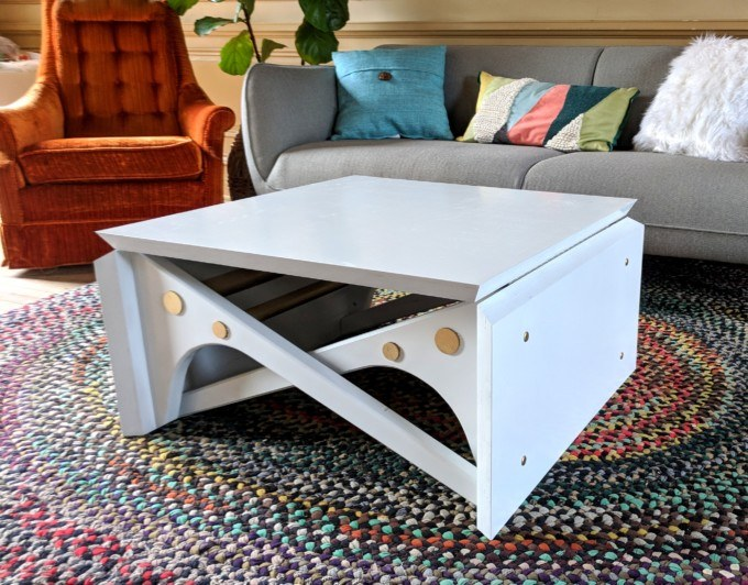 Convertible Coffee Table Tutorial And Plans Reality Daydream