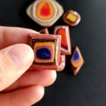 Agate Inspired Layered Paper Veneer DIY Jewelry