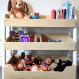 Three-Tiered Children's Shelf