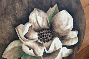 Magnolia Bloom Stained Art
