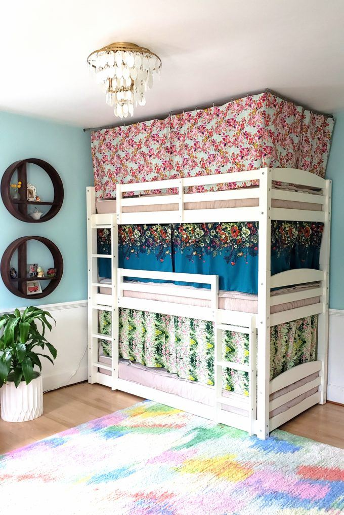 Bunk Bed Curtains How To Tutorial, Loft Bed Curtains Boy