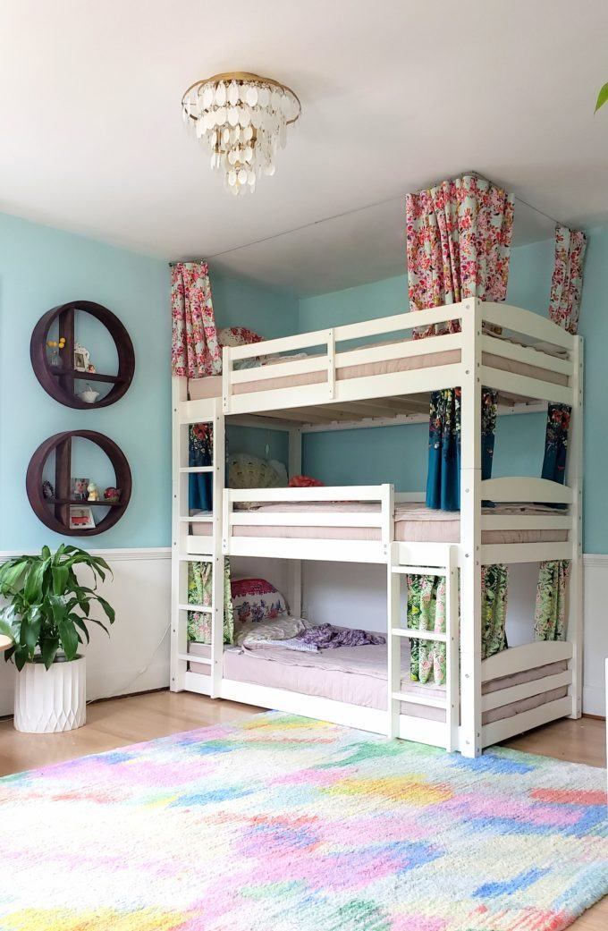 Bunk Bed Curtains How To Tutorial, Loft Bed Curtains Diy