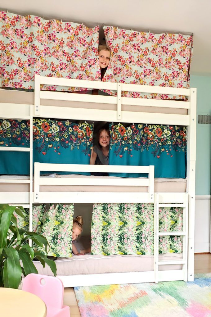 Bunk Bed Curtains How To Tutorial, Loft Bed Curtains Canada