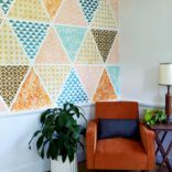 My Studio: Patchwork Stencil Wall