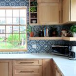 Glass Mosaic Backsplash Installation
