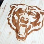 Stained Wooden Logo Sign