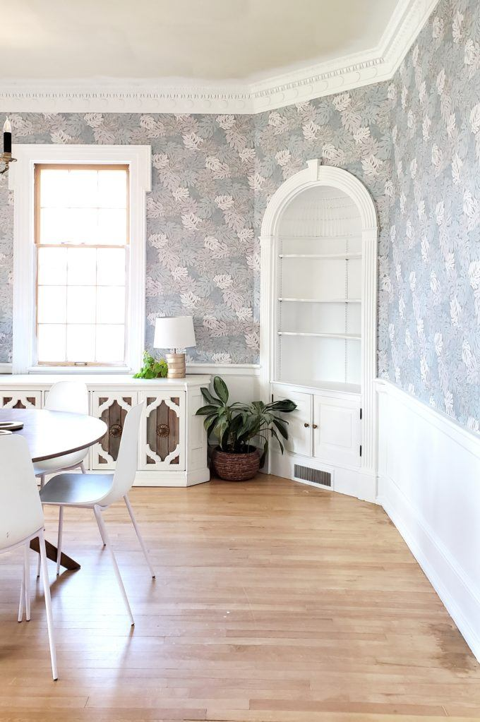 Putting up wallpaper is easier than you think, and makes a HUGE difference in a room! {Reality Daydream}