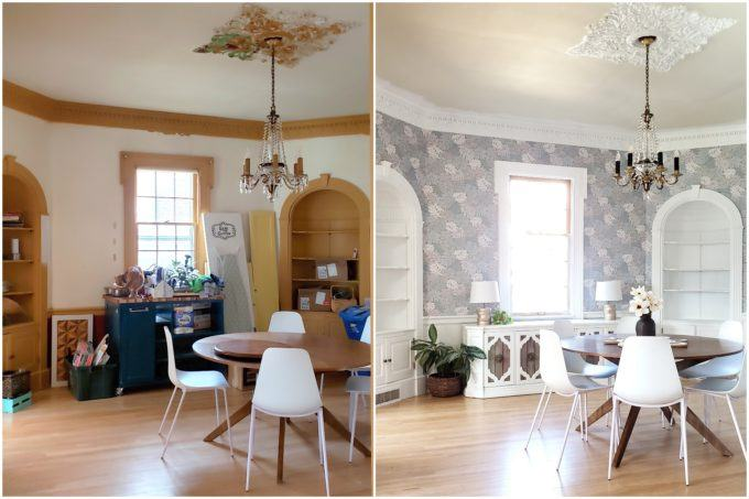 BEFORE/AFTER of this dining room transformation {Reality Daydream}