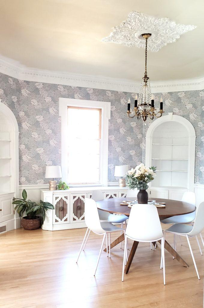 Dining room is finished, and the wallpaper is SO GOOD! {Reality Daydream}