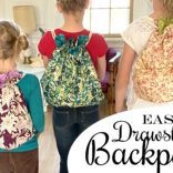 Lined Drawstring Backpack Tutorial