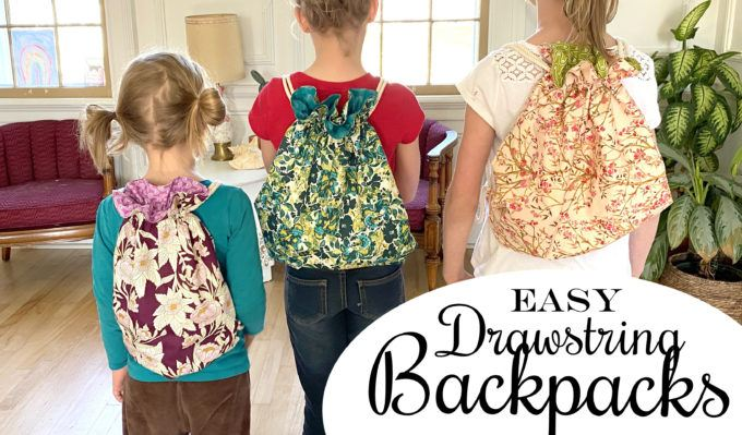 Make A Lined Drawstring Backpack For Kids Or Adults With Video