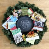 DIY Christmas Card Wreath