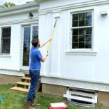 Patching the Siding from Derecho Damage